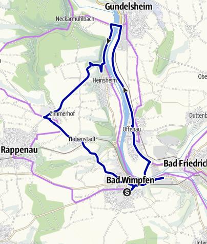 Karte / Busrundfahrt um Bad Wimpfen im eigenen Reisebus