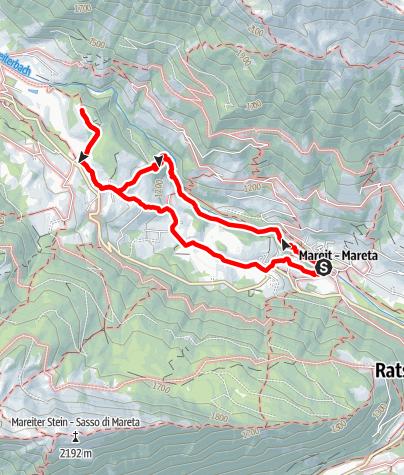 Karte / Wanderweg Achenrainschlucht