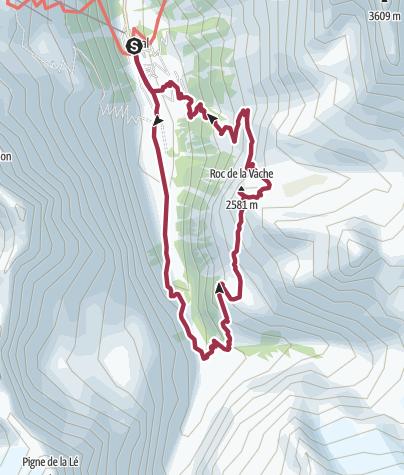 Kaart / Walk to Lac d'Arpitettaz