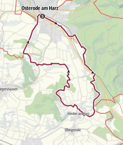 Karte / Rund um Osterode - Teil 2 (Süd)