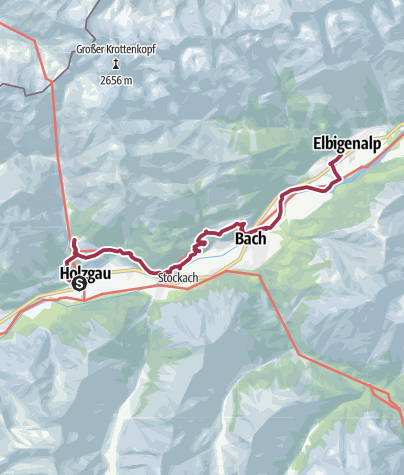 Kaart / Walk to Elbigenalp