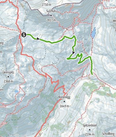 Kaart / Carschinahütte Abstieg nach Partnun
