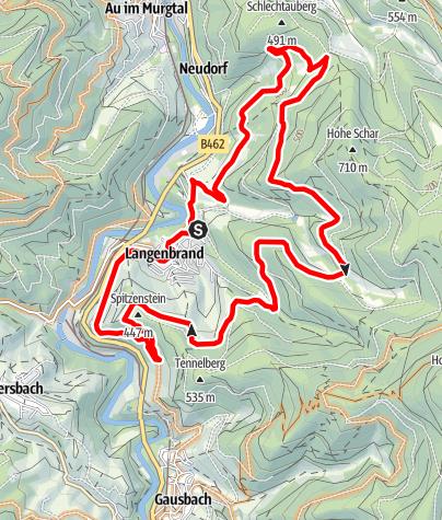 Karte / Murgtalcrossies - Mountainbiketour auf den Spuren der Langenbrander Bike-Session
