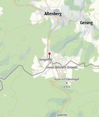 Karte / Parkplatz Ortseingang Zinnwald