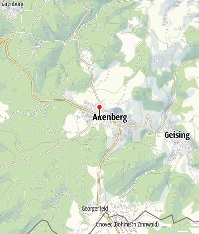 Karte / Parkplatz Skilift Altenberg