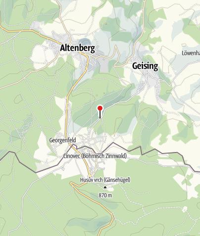 Karte / Parkplatz Besucherbergwerk Zinnwald