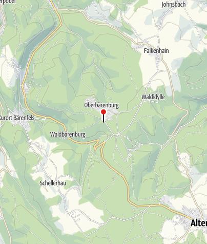 Karte / Parkplatz Oberbärenburg