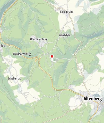 Karte / Parkplatz Rennschlitten- und Bobbahn Altenberg