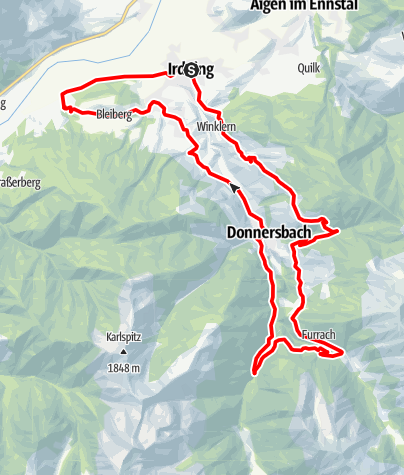 Mapa / Donnersbachtal Runde
