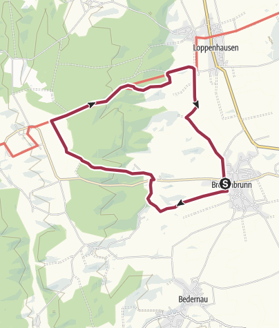 Karte / Große Frauenwald Runde