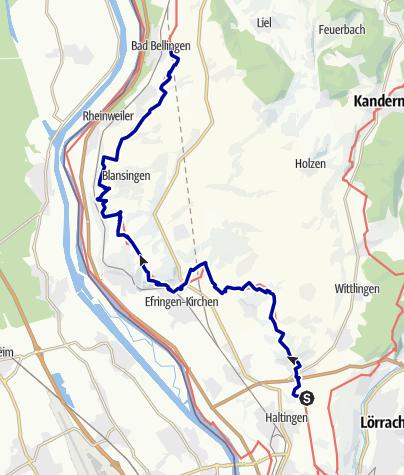 Karte / Markgräfler Wiiwegli - 2. Etappe