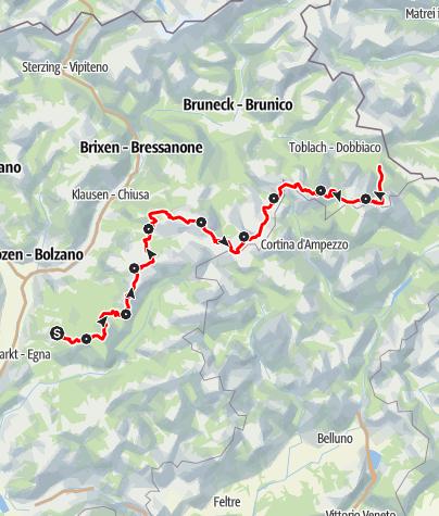 Карта / Dolomites UNESCO Geotrail