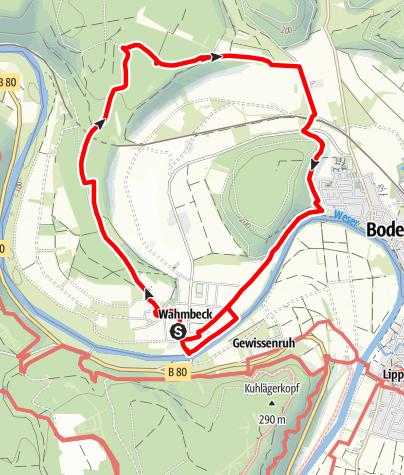Karte / Route rund um den Wahmbecker Kahlberg (Wa 12)