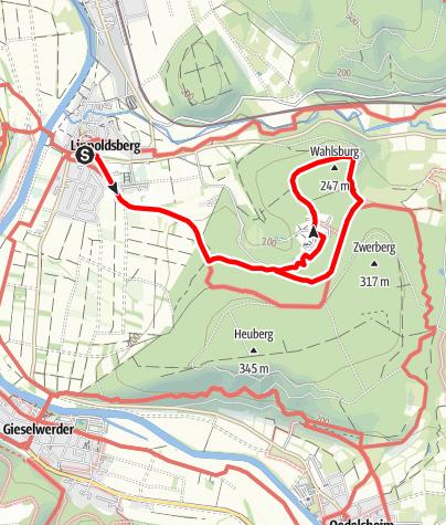 Karte / Wanderweg von Lippoldsberg um die Wahlsburg (Li 10)