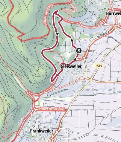 Karte / Gleisweiler - Pilzweg