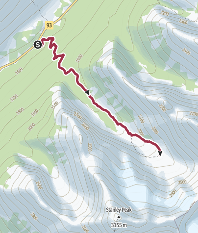 Karte / Stanley Glacier Trail