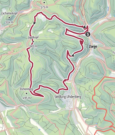 Karte / Stempel sammeln in Zorge Tour 8a – 3 Stempel