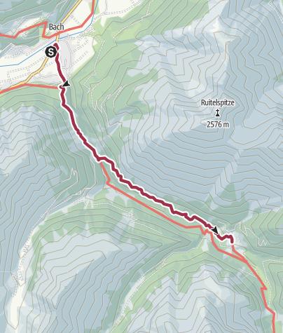 Map / Alternative Walk 3: Bach - Madau