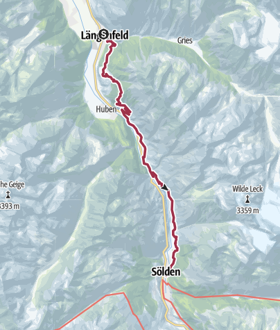 Map / Alternative Walk 6: Längenfeld - Sölden