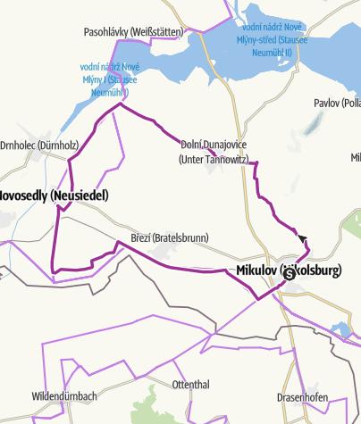 Mapa / Cyklistický okruh Stará Hora