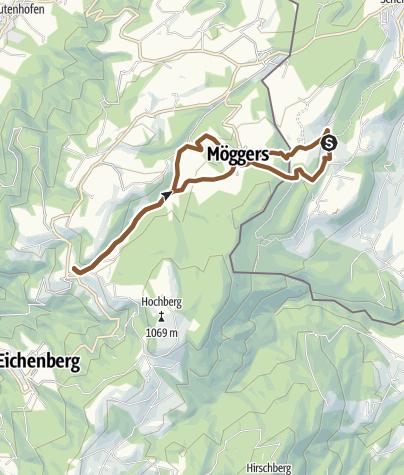 Karte / Über Möggers ins Paradies