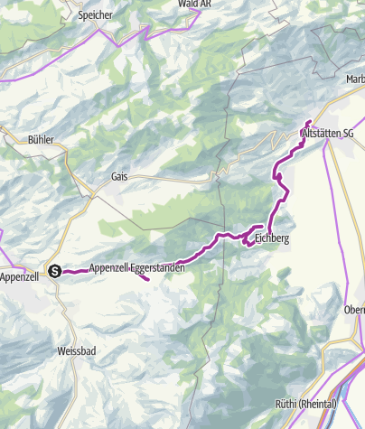Map / Appenzell Rhine Valley Route
