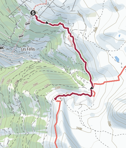 Map / Walk to Hotel Weisshorn, from St. Luc