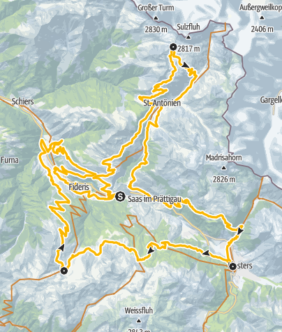 Karte / 333 Swiss Bike Masters