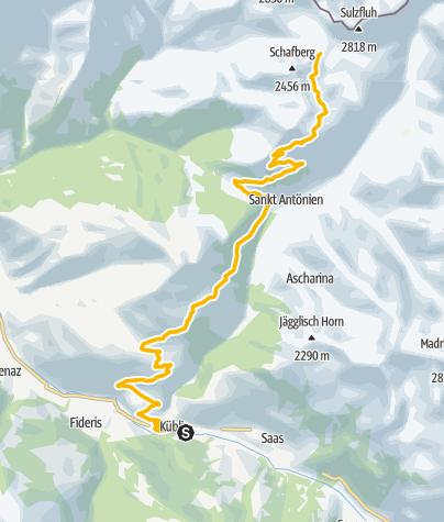 Map / 333.01 Swiss Bike Masters - Küblis auf die Carschinahütte
