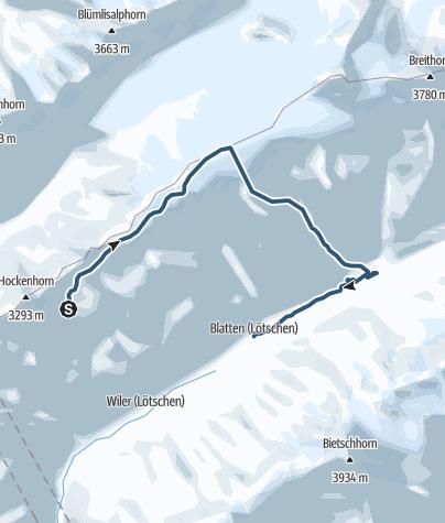 Karte / Petersgrat
