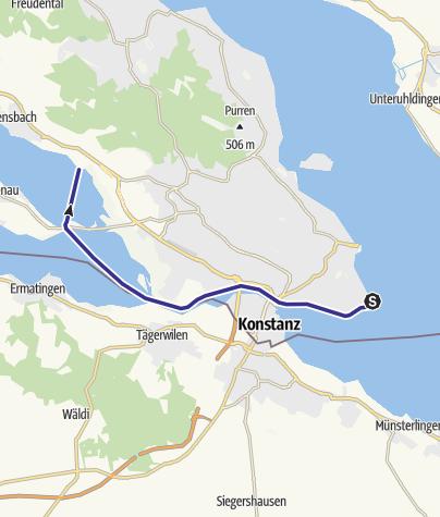 Karte / Von Konstanz nach Hegne