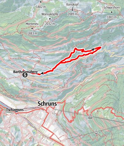 Karte / Panoramaweg Bartholomäberg