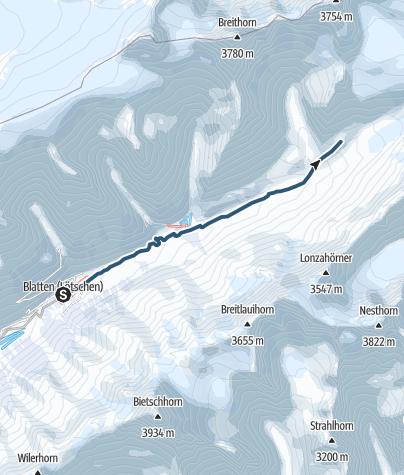 Map / Peter Tscherrig Anen Hut