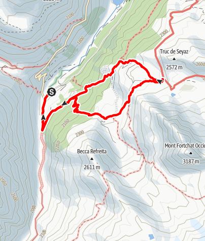Kaart / Rifugio Chalet de l'Epée von Valgrisenche (Useleres)