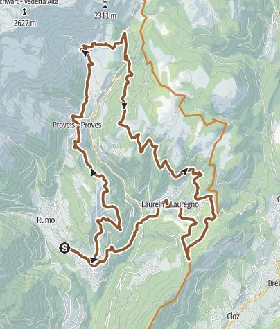 Cartina / Tour 1430 - Malghe delle Maddalene