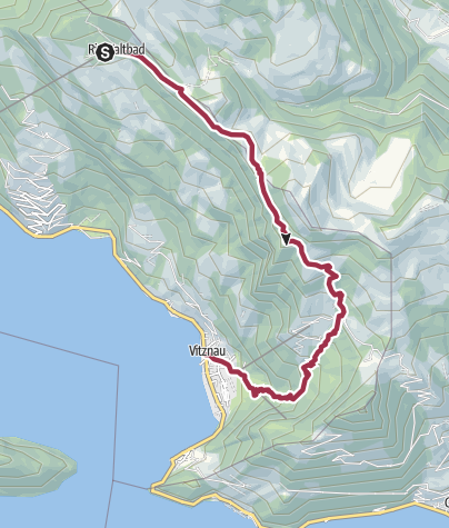 Karte / Weg der Naturschätze an der Rigi