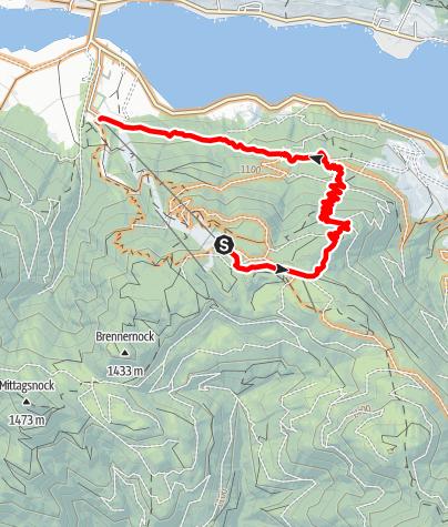 Karte / MTB-Naggl Trail