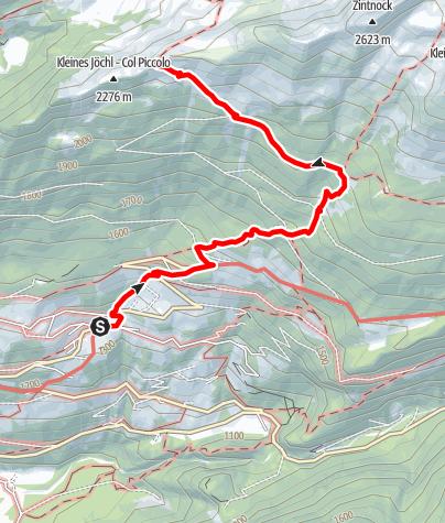 Karte / Wanderung zum Ahornacher Jöchl