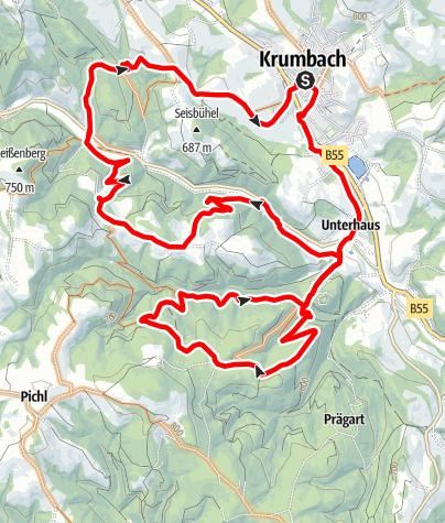 Mapa / Schloss Krumbach Strecke
