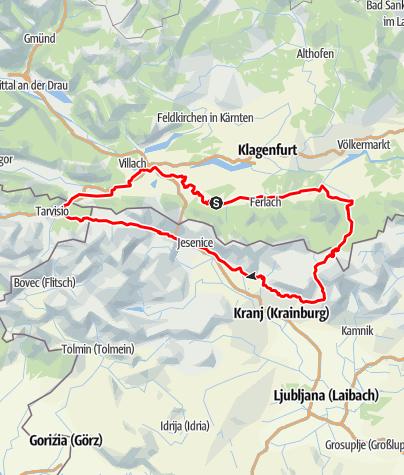 Karte / Karawanken Bike Circle