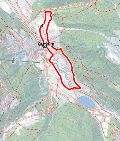 Karte / Alpinrundweg Gaschurn