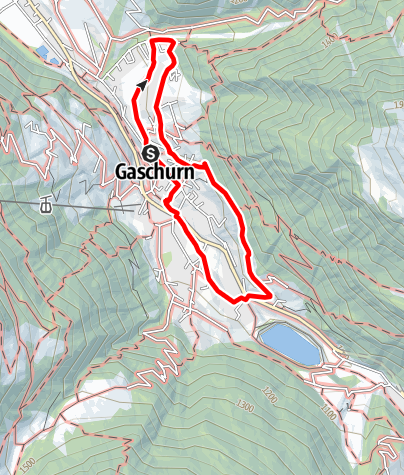 Map / Alpinismusweg Gaschurn