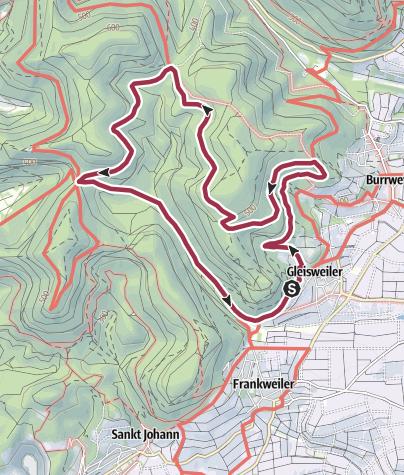Karte / Pfälzer Hüttentour - Kurze Nordtour mit 3 Hütten
