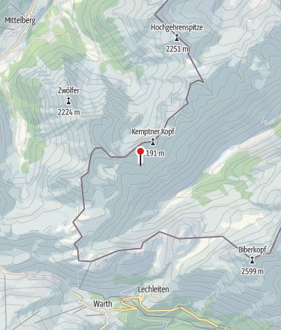Karte / Mindelheimer Hütte