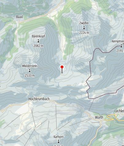 Map / Obere Gemstelhütte