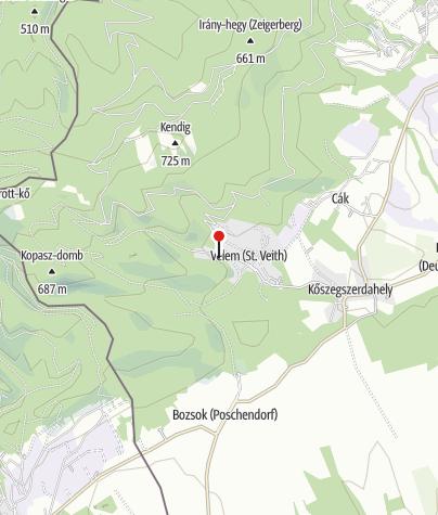 Map / Erdőzsongás vendégház