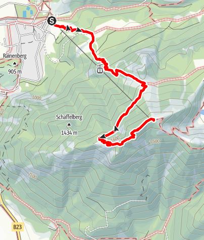 Karte / Bergtour - Laber