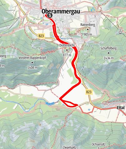 Cartina / Wanderung - Durch das  Weidmoos