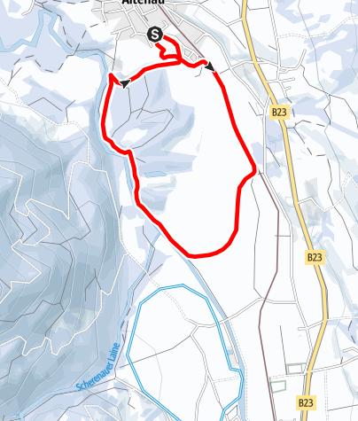 Karte / Langlaufloipe - Kochelfilzrunde