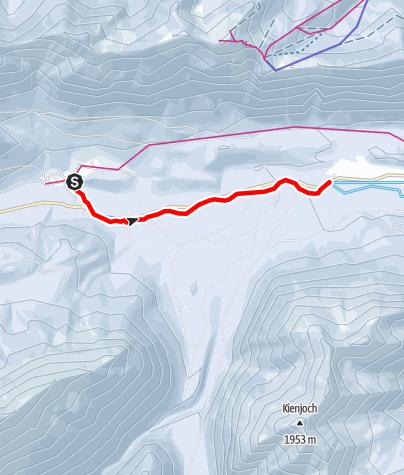 Karte / Verbindungsloipe Linderhof - Graswang